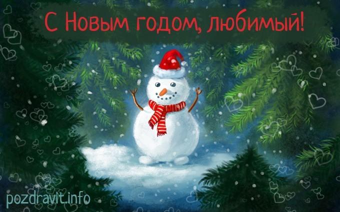 Открытка С Новым годом, любимый!